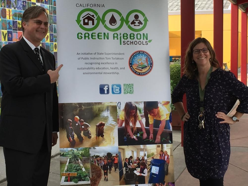Green ribbon School Award.JPG